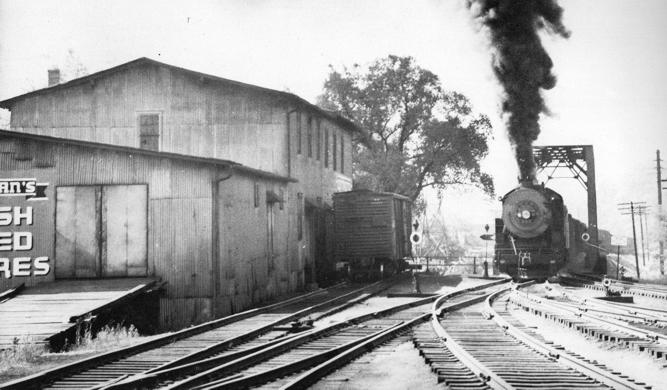 Darden Mill - old photo with train